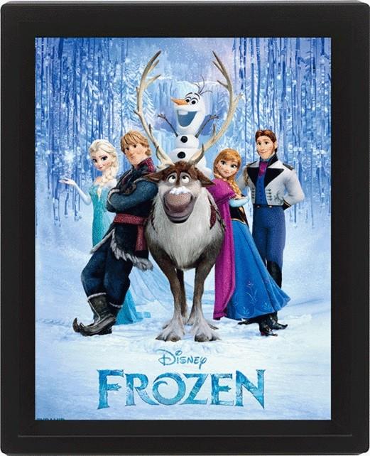Framed 3Dposter Frozen - Cast