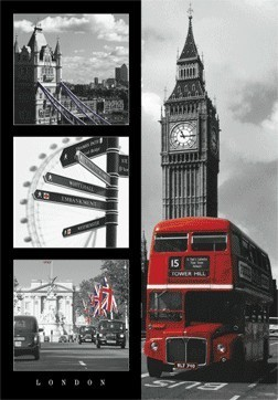 3D Poster  London red bus