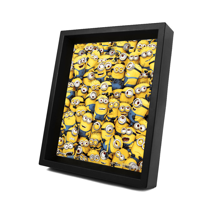 Framed 3Dposter  Minions (Despicable Me) - Many minions