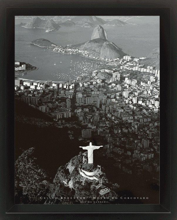 Framed 3Dposter  Rio de Janeiro - by Marilyn Bridges