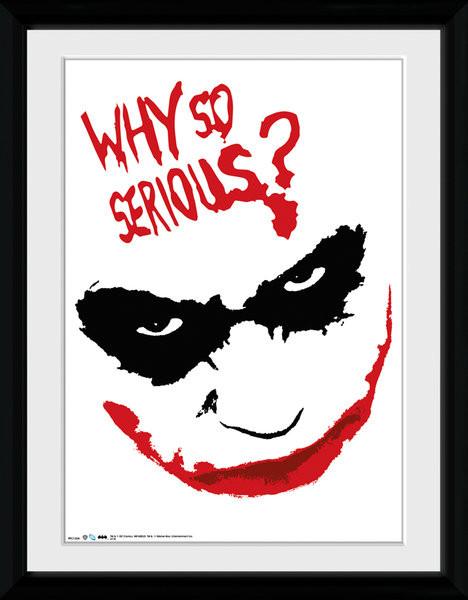 Batman The Dark Knight - Smile Poster emoldurado de vidro