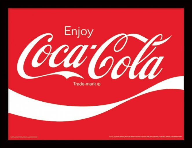 Coca-Cola - Logo Poster emoldurado de vidro