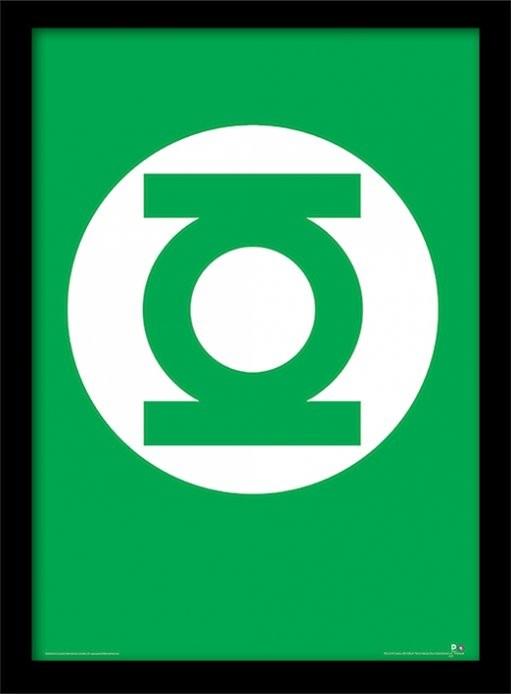 DC Comics - The Green Lantern Poster emoldurado de vidro