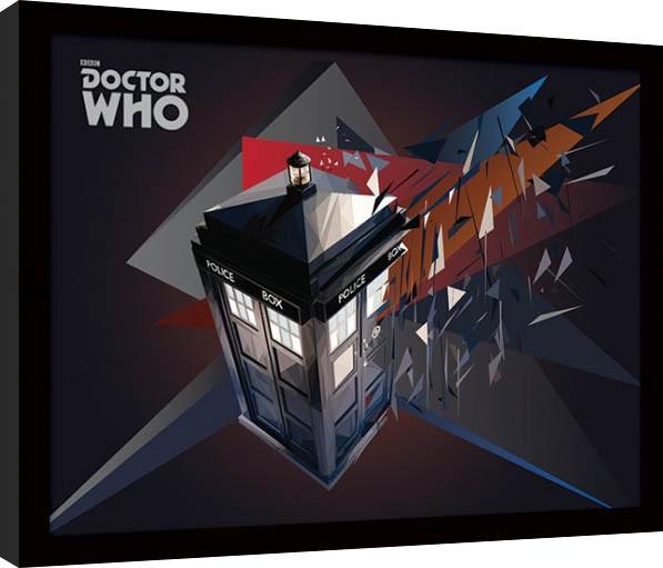 Doctor Who - Tardis Geometric Poster emoldurado de vidro