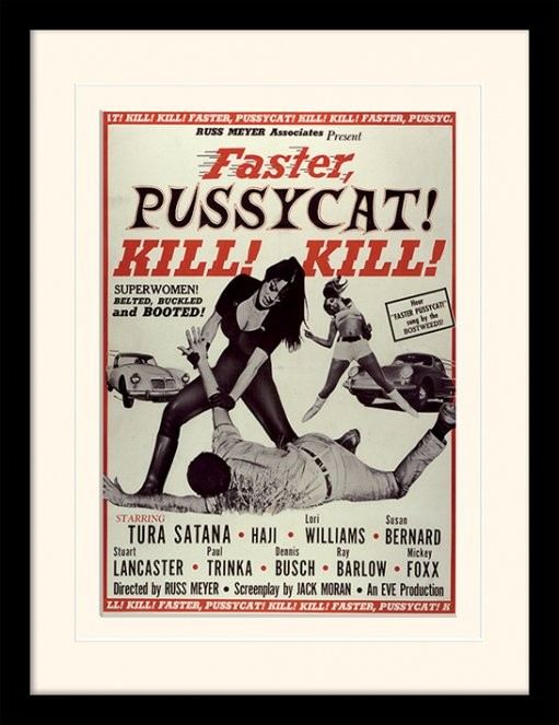 FASTER, PUSSYCAT! KILL! KILL! - tura satana Poster emoldurado de vidro