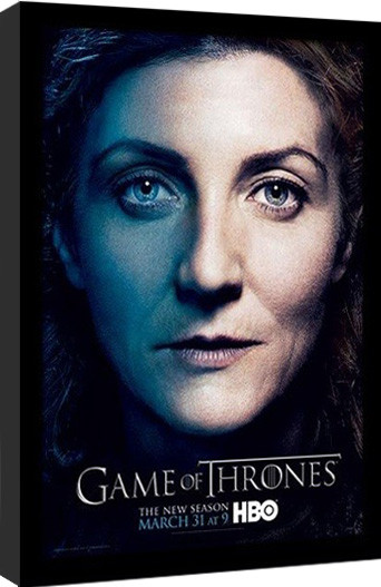 GAME OF THRONES 3 - catelyn Poster Emoldurado