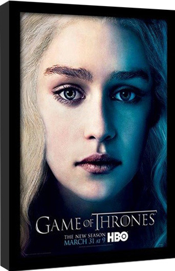 GAME OF THRONES 3 - daenery Poster Emoldurado