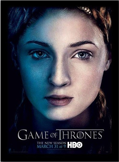 GAME OF THRONES 3 - sansa Poster emoldurado de vidro