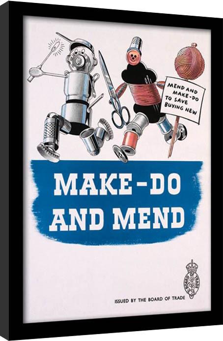 IWM - Make Do & Mend Poster emoldurado de vidro