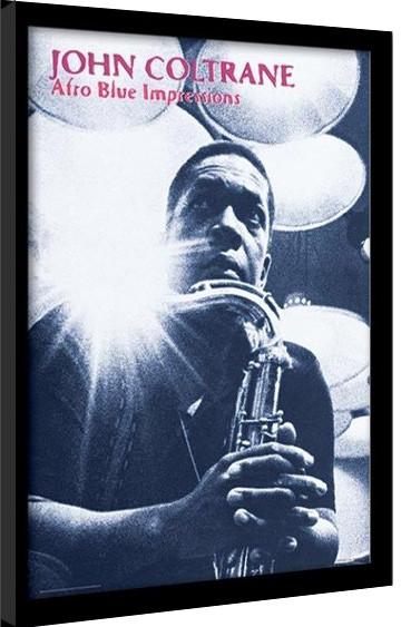 JOHN COLTRANE - afro blue impressions Poster emoldurado de vidro