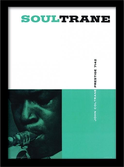 John Coltrane - Soultrane Poster emoldurado de vidro