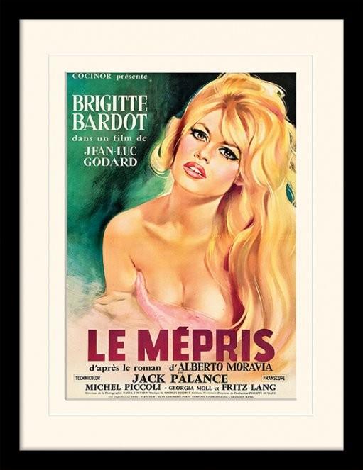LE MÉPRIS - brigette bardot Poster emoldurado de vidro