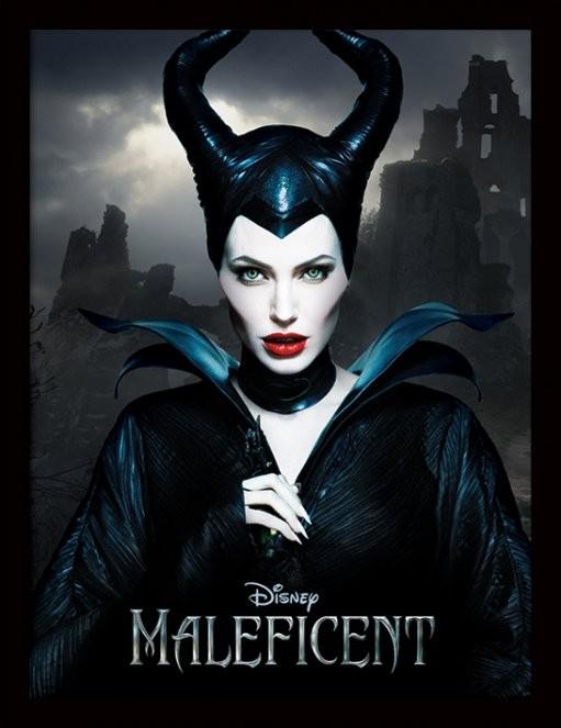 Maleficent - Dark Poster emoldurado de vidro