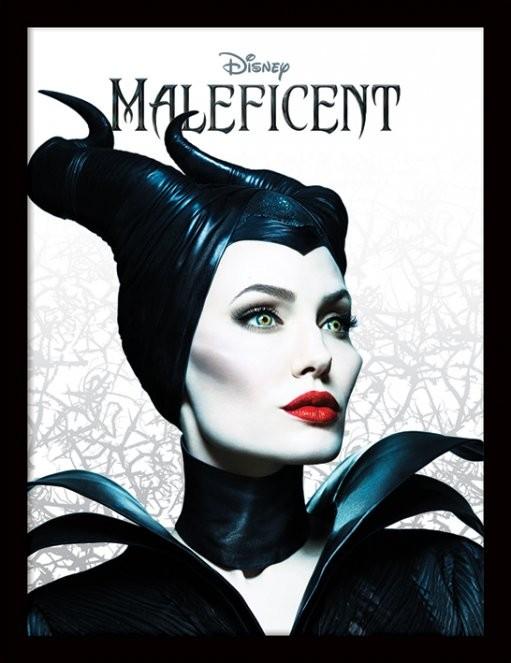 Maleficent - Pose Poster emoldurado de vidro