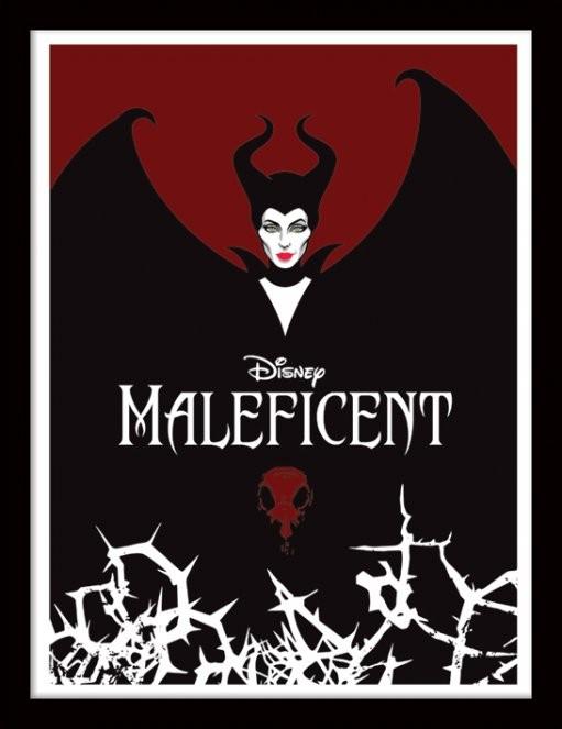 Maleficent - Wings Poster emoldurado de vidro
