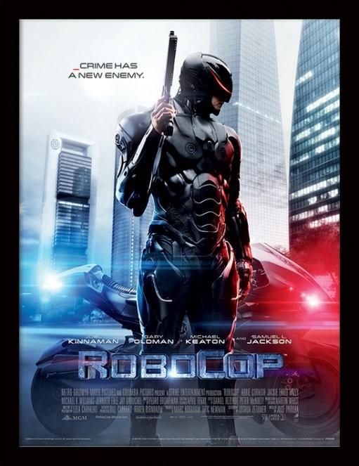 ROBOCOP - 2014 one sheet Poster emoldurado de vidro