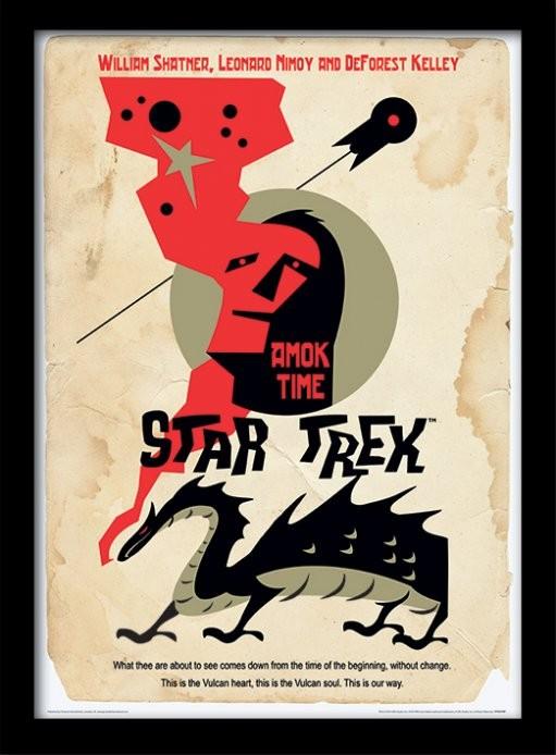 Star Trek - Amok Time Poster emoldurado de vidro