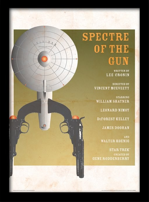 Star Trek - Spectre Of The Gun Poster emoldurado de vidro