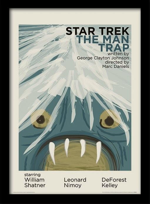Star Trek - The Man Trap Poster emoldurado de vidro