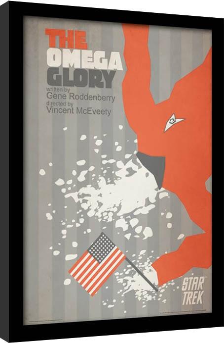 Star Trek - The Omega Glory Poster emoldurado de vidro