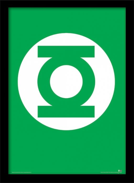 Poster emoldurado de vidroDC Comics - The Green Lantern