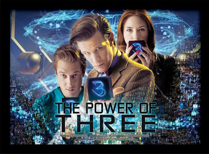 Poster emoldurado de vidroDoctor Who - Power of 3