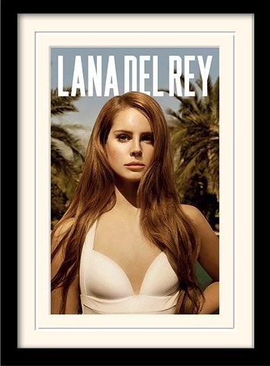 Poster emoldurado de vidroLana del Rey - paradise