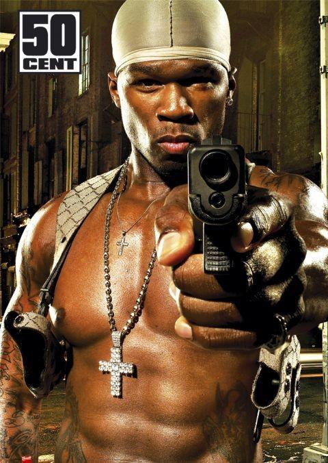 50 Cent - gun Poster