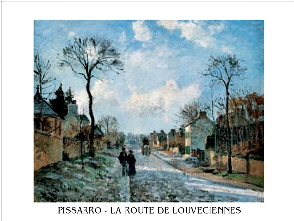 A Road in Louveciennes Art Print