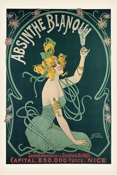 Absinthe Blaqui Poster, Art Print
