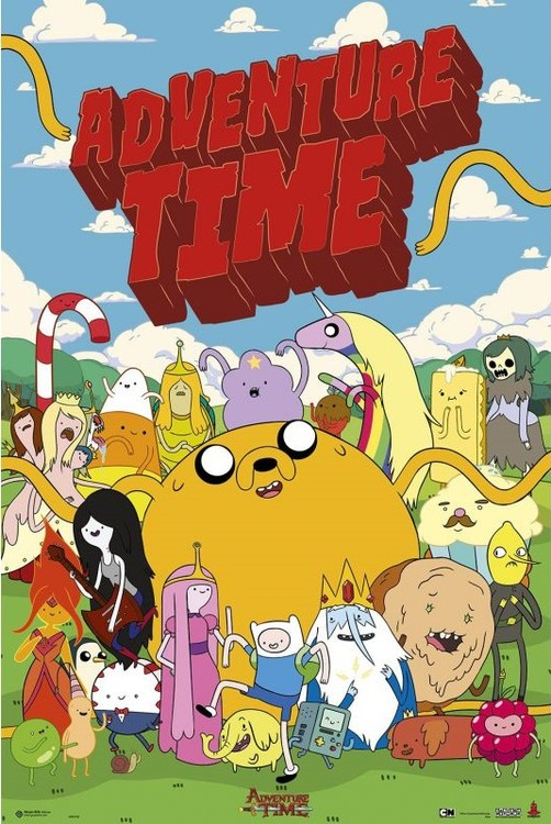 Poster Adventure time - personajes