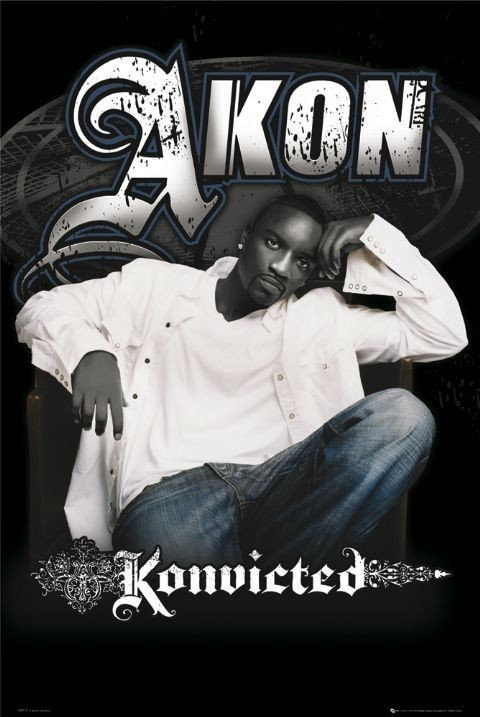 Pôster Akon - konvicted