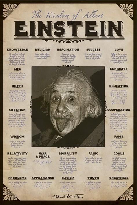 Albert Einstein - quotes Poster