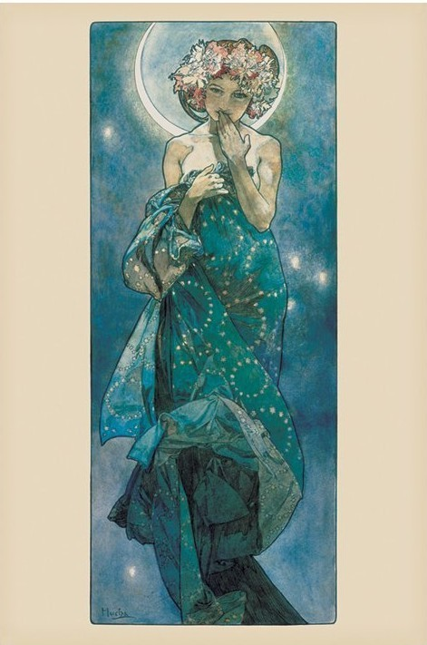 Alfons mucha moon poster sold at europosters for Posters art prints