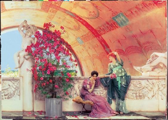 Alma-Tadema - Unconscious Rivals 1873 Art Print