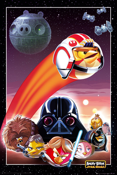 Angry birds Star Wars - collage Poster