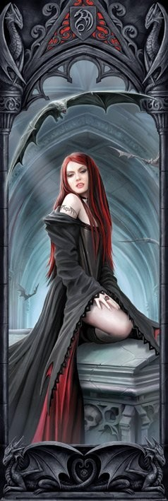 ANNE STOKES - await the night Poster, Art Print
