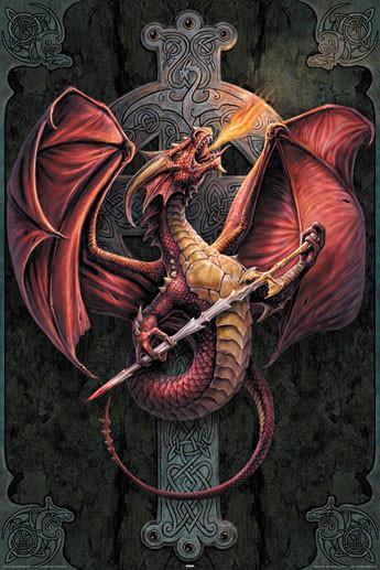 anne stokes celtic dragon poster sold at europosters. Black Bedroom Furniture Sets. Home Design Ideas