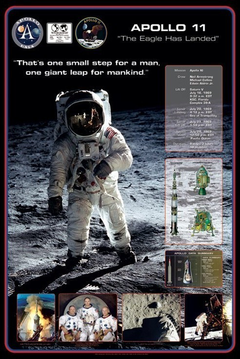 Apollo 11 - 1st man on The moon Poster | Sold at Abposters.com