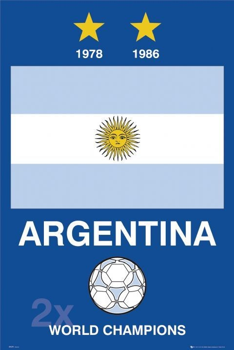 Argentina - World cup Poster, Art Print