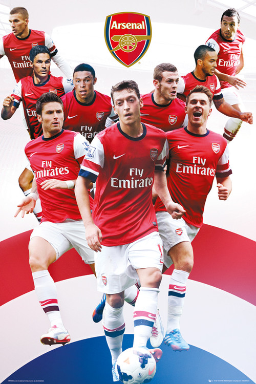 Arsenal FC - Players 13/14 Poster, Art Print
