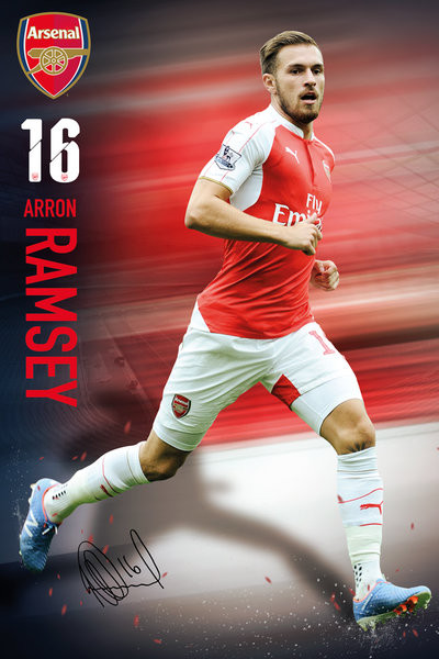Arsenal FC - Ramsey 15/16 Poster, Art Print