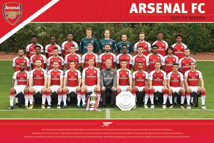 Poster  Arsenal FC - Team 17/18