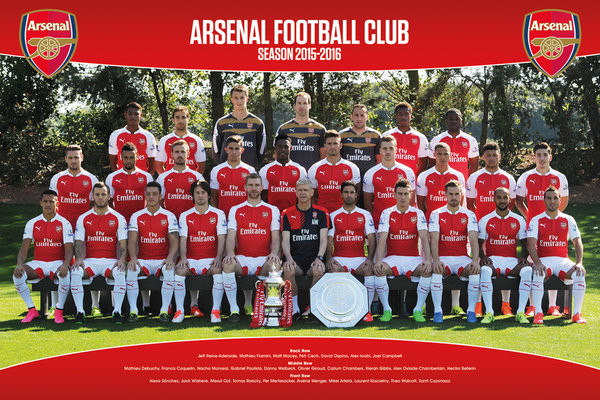 Arsenal FC - Team Photo 15/16 Poster, Art Print