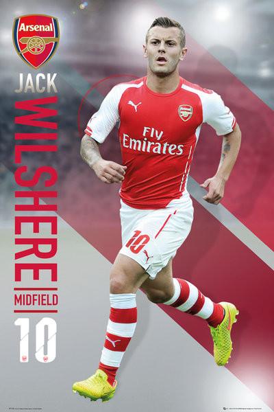 Arsenal FC - Wilshere 14/15 Poster, Art Print