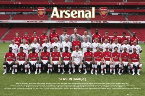 Pôster Arsenal - Team photo 08/09