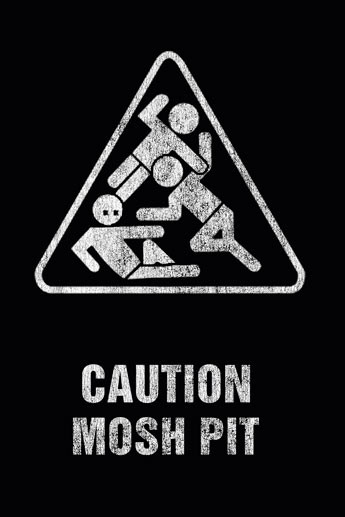 Art worx - caution mosh pit Poster, Art Print