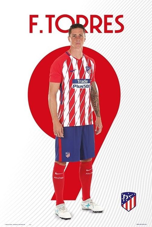 Poster Atletico De Madrid 2017/2018 -  F. Torres