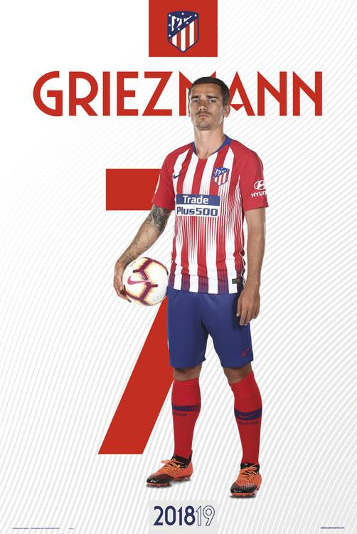Atletico Madrid 2018/2019 - Griezman Poster