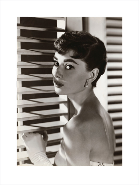 Audrey Hepburn - Blinds  Art Print